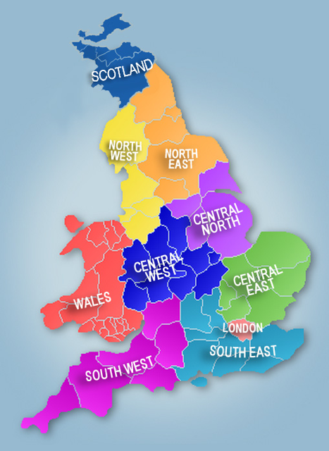 Map Of London North South East West.British Isles Plug Into Your Local Network
