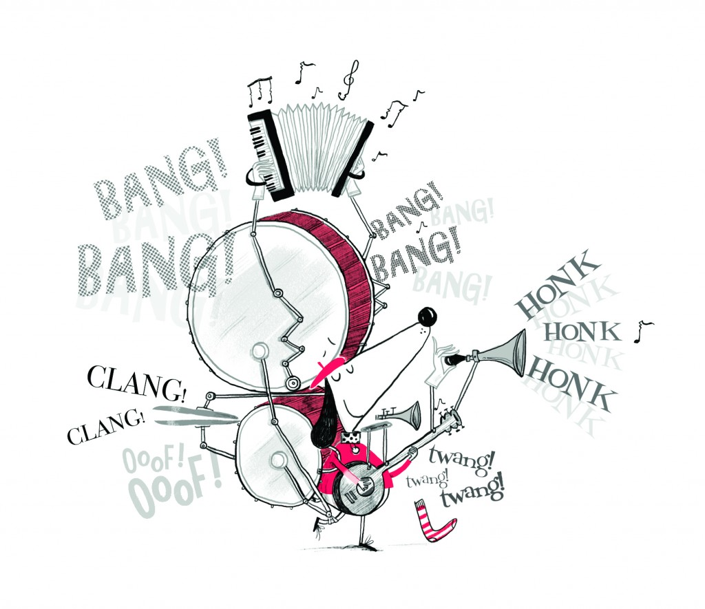 Claude bangs his drum for the SCBWI BI Annual Conference 2017